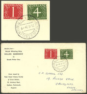 NETHERLANDS: Cover Dispatched From Whaling Ship Willem Barendsz Sailing The Antarctic Seas On 23/FE/1954, VF - Period 1949-1980 (Juliana)