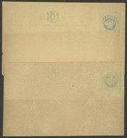 PORTUGUESE INDIA: 2 Old Postal Cards Of ¼ Tanga, Interesting! - Inde Portugaise