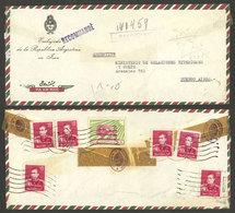 IRAN: 4/FE/1959 Teheran - Argentina, Registered Airmail Cover, VF Quality! - Irán
