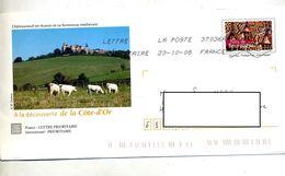 Pap Bourgogne Flamme Chiffrée Illustré Chateau Chateauneuf - Prêts-à-poster:  Autres (1995-...)