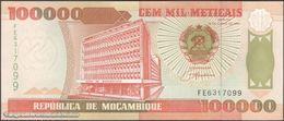 TWN - MOZAMBIQUE 139 - 100000 100.000 Meticais 16.6.1993 Prefix FE UNC - Moçambique