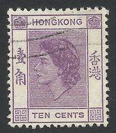 Hong Kong, 10 C. 1954, Sc # 186, M # 179, Used. - Hong Kong (...-1997)
