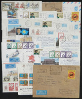 KAZAKHSTAN: 15 Covers + 1 Cover Front Posted Between 1993 And 1994, Most Sent To Argentina. Some Very Interesting Postag - Kazakhstan