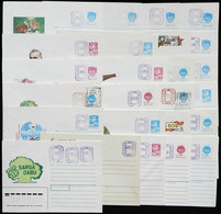 LATVIA: 25 USSR Stationery Envelopes With Overprints, All Different, VF Quality! - Latvia