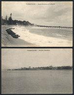 MADAGASCAR: TAMATAVE: 2 Postcards With General Views, Circa 1910, Unused, VF Quality! - Madagascar