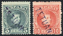 SPANISH MOROCCO - TETUAN: Sc.9/10, 1908 5c. And 10c., Mint Lightly Hinged, Excellent Quality, Rare, Catalog Value US$147 - Marruecos Español