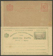 MONTENEGRO: 2 Old Unused Postal Cards, VF Quality! - Montenegro