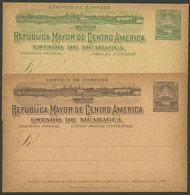 NICARAGUA: 2 Old Unused Postal Cards, Topic SHIPS, VF Quality! - Nicaragua