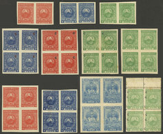 PARAGUAY: VARIETIES: Small Group Of Good Varieties, Mainly Imperforate Pairs, Some With Light Stains On Gum, Others Of E - Paraguay