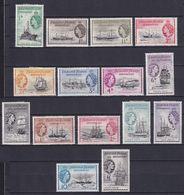 FALKLAND 1954/62, SG# G26-G40, CV £225, Queen Elizabeth II, Ships, MH - Falkland