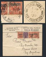 """PERU: MAY/1917 LA MERCED (Chanchamayo) - Argentina: Cover Franked Sc.180 + 201 X3, Canceled """"RECEPTORÍA DE LA MERCED"""", O - Peru"""