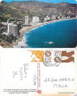 Vista Aerea De Acapulco Con El Mar Y La Costera. Viaggiata 1982 - Mexique