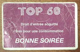 TOP 60  CLAN CAMPBELL CARTE D'ENTRÉE QUE POUR LA COLLECTION - Tickets D'entrée