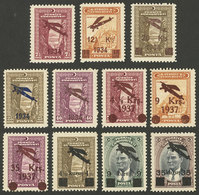TURKEY: Sets Of The First 3 Airmail Issues, MNH, VF Quality! - Poste Aérienne