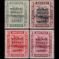 BRUNEI 1922 - Scott# 14b-20a River Scene Opt. 1-4c LH - Brunei (1984-...)