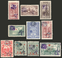 TURKEY: Interesting Lot Of Old Overprinted Stamps, One Used And Almost All Mint With Original Gum And Lightly Hinged, Ex - Turquie