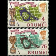 BRUNEI 1966 - Scott# 124-5 W.Cup Soccer Set Of 2 MNH - Brunei (1984-...)