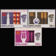 BRUNEI 1966 - Scott# 128-30 UNESCO 20th. Set Of 3 MNH - Brunei (1984-...)