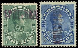 VENEZUELA: 2 Old Stamps With SPECIMEN Overprint, Very Nice! - Venezuela