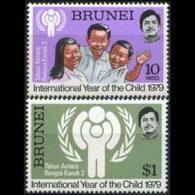 BRUNEI 1979 - Scott# 238-9 Intl.Children Year Set Of 2 MNH - Brunei (1984-...)