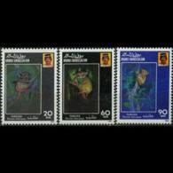 BRUNEI 1990 - Scott# 417-9 Tarsiers Set Of 3 MNH - Brunei (1984-...)