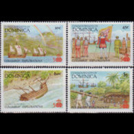 DOMINICA 1987 - Scott# 1029/36 Discovery MNH - Dominica (1978-...)