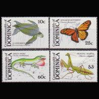 DOMINICA 1988 - Scott# 1146-9 Wildlife Set Of 4 MNH - Dominica (1978-...)