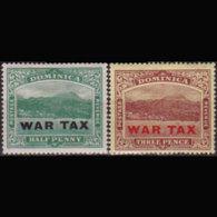 DOMINICA 1918 - Scott# MR3-4 View Surch. Set Of 2 LH - Dominica (1978-...)