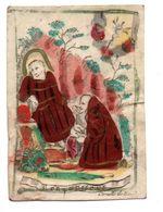 M 7.   Image Pieuse 18s Parchemin  6,5 X 9,5cm  S.Franciscus - Santini