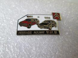 PIN'S  RARE    CITROEN   AX ET ZX   FERRAGE AULNAY  12 07 91   Email Grand Feu - Citroën