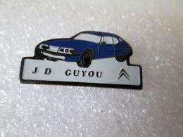 PIN'S     CITROEN    SM   CITROEN MASERATI  J D GUYOU - Citroën