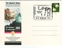 Germany - 2015 Minerals, Munchen  Postcard - Lot. A398 - Minéraux