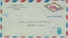 86085 - NICARAGUA - POSTAL HISTORY - Airmail Cover To  ITALY  1949 - Baseball - Nicaragua