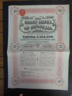 RHODESIE - LONDRES 1912 - THE GIANT MINES OF RHODESIA - TITRE DE 25 ACTIONS DE 1 £ - Actions & Titres