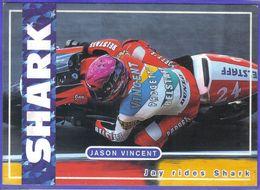 Carte Postale Moto Circuit Le Pilote Jason Vincent  Très Beau Plan - Sport Moto