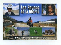 Les Rayons De La Liberté. 360° De Voyage Autour Du Monde. Vélo Bike Bicycle Fahrrad VTT éléphants, Rizières. Cyclonomade - Ansichtskarten