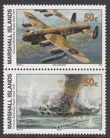 Marshall Islands 1994 WO II German Battleship Tirpitz Sunk 1944  Michel 559-60  MNH 28087 - Marshall