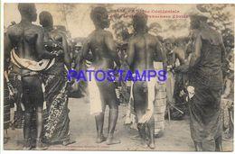 136793 AFRICA DAKAR SENEGAL COSTUMES NATIVE DANCER CIRCULATED TO URUGUAY POSTAL POSTCARD - Non Classés