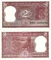 INDIA       2 Rupees       P-53Ae       ND (ca. 1997)       UNC  [staple Holes] - Inde