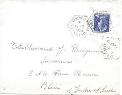 MAYENNE 53  -  LAVAL ANNEXE C.P. N° 49  - POSTE AUTOMOBILE RURALE  G7  -1958 - Postmark Collection (Covers)
