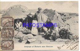 136797 AFRICA EGYPT NEAR ASSOUAN COSTUMES MAN LODGINGS OF BICHARIS CIRCULATED TO ARGENTINA POSTAL POSTCARD - Non Classés