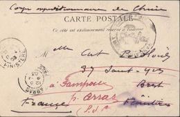 """Indochine CPA Saïgon Procession Honneur Boudha Manuscrit """"corps Expéditionnaire De Chine"""" Cachet Marine Française - Marcofilia (sobres)"""
