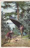 USA136  --  HUNTING IN THE ADIRONDACKS  --  1907  --  STAMP + T ( 5 CENTIMES PORTO ) - Adirondack