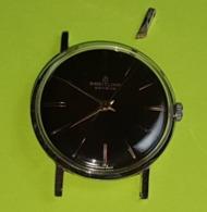 Rare Montre BREITLING Suisse Cadrant Noir 1970 - FONCTIONNE -Remontage Manuel -1 Anse Cassée Pour Pièce Ou Autre Boitier - Montres Anciennes