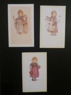 (G3) Illustrateur LISI : 3 Images Pieuses Pouvant Servir De Carte Souvenir, (communion). - Autres Illustrateurs
