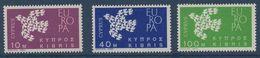 CHYPRE 1961 Europa   N°YT 189-191 ** MNH - 1961