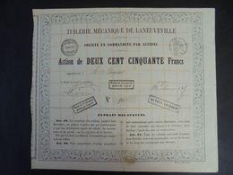 FRANCE - 54 - MEURTHE ET MOSELLE - TUILERIE MECANIQUE DE LANEUVILLE : ACTION DE 250 FRS - PEU COURANT - Actions & Titres