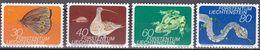 Tr_ Liechtenstein 1973 - Mi.Nr. 591 - 594 - Postfrisch MNH - Tiere Animals - Ohne Zuordnung
