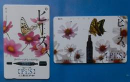 Japan Japon X2 Butterfly Papillon Mariposa Schmetterling Farfalla Insect Butterflies PìS - Butterflies