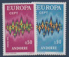 AND 1972  Série Europa   N°YT 217-218   ** MNH - Andorra Francesa